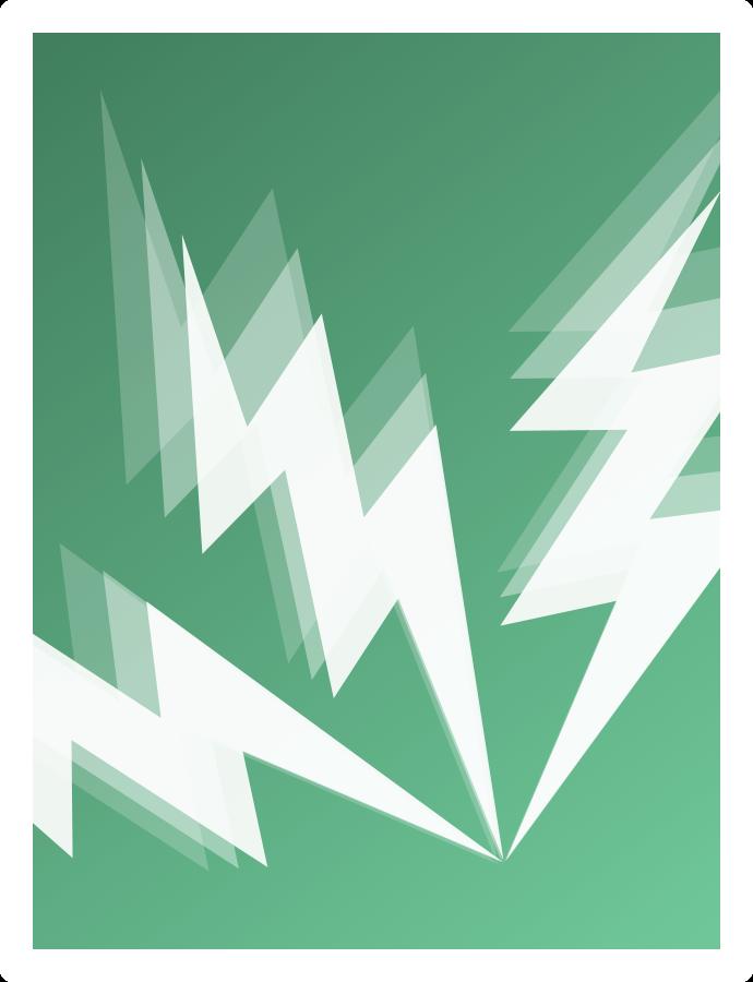 Image showing three stylised lightning bolts