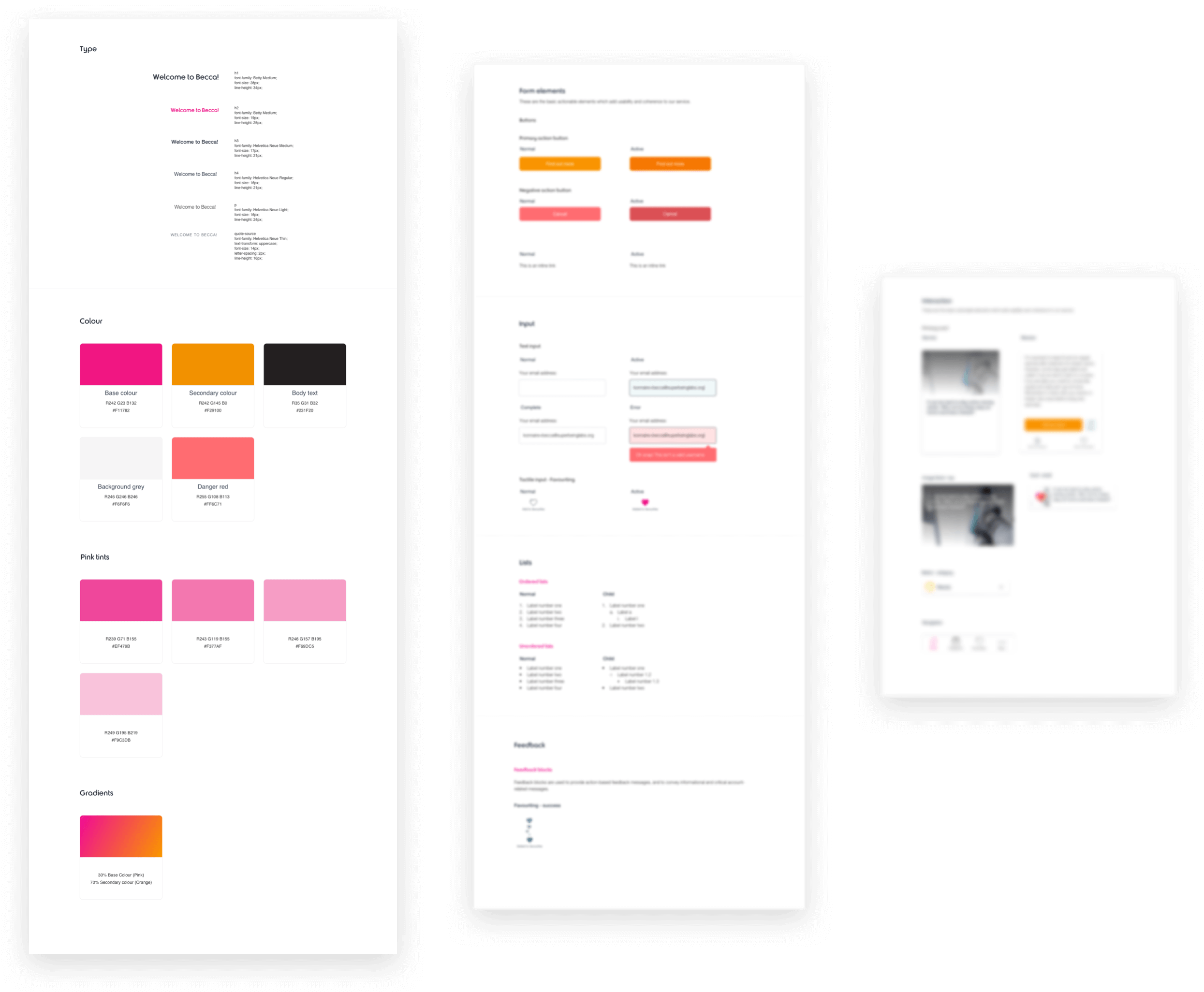 Image showing some of the Atomic Design system we created