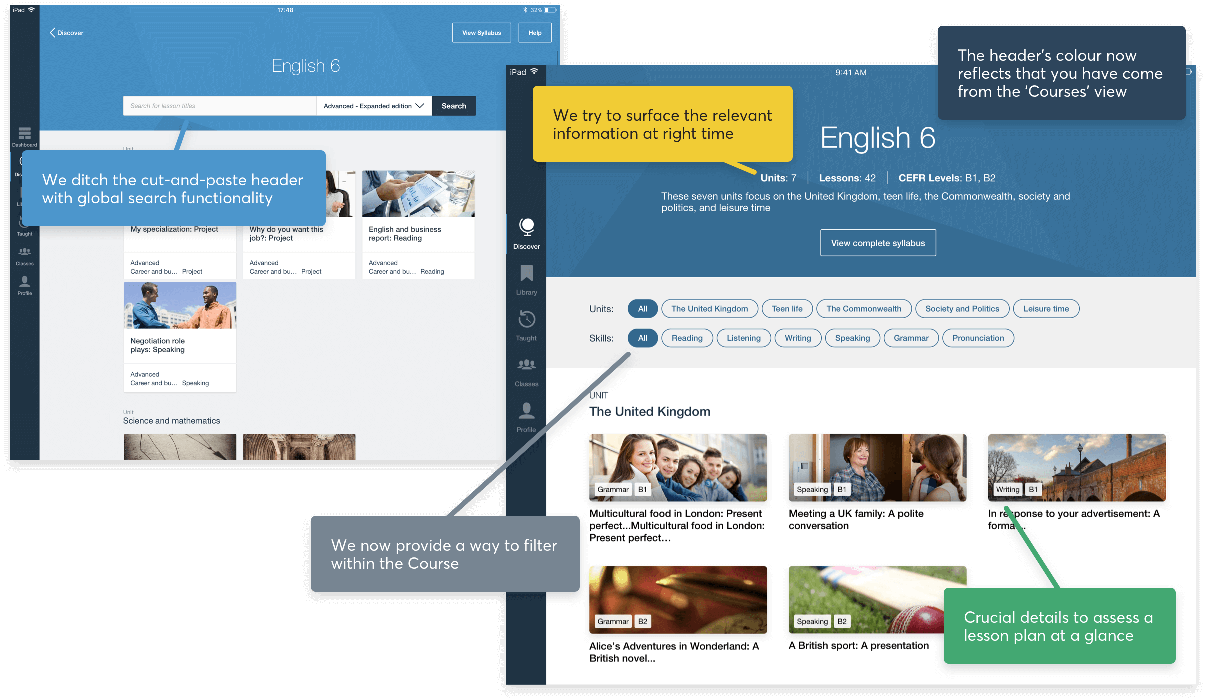 Image showing the updated visual cues we added to set a teacher's expectations
